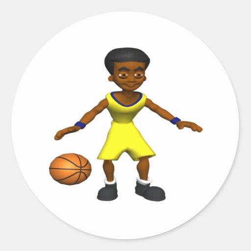 Jugador de básquet pegatinas