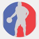 jugador de básquet pegatinas redondas
