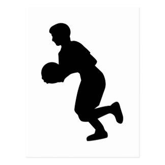 Jugador de básquet postales