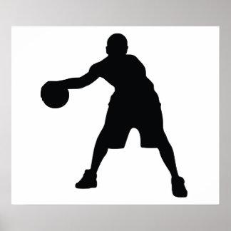Jugador de básquet póster