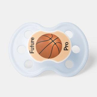 Jugador de básquet profesional futuro chupete de bebé