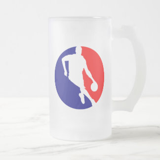 Jugador de básquet redondo jarra de cerveza esmerilada