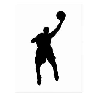 Jugador de básquet tarjeta postal