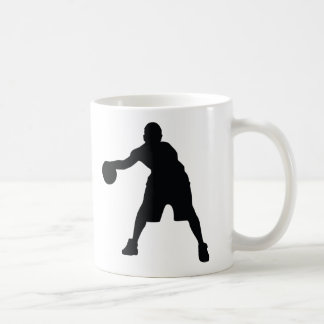 Jugador de básquet tazas de café