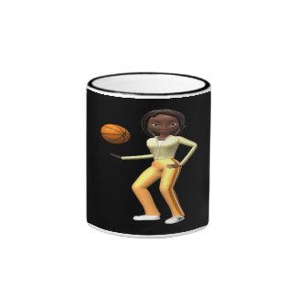Jugador de básquet taza
