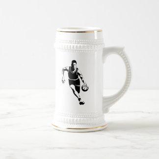 Jugador de básquet tazas
