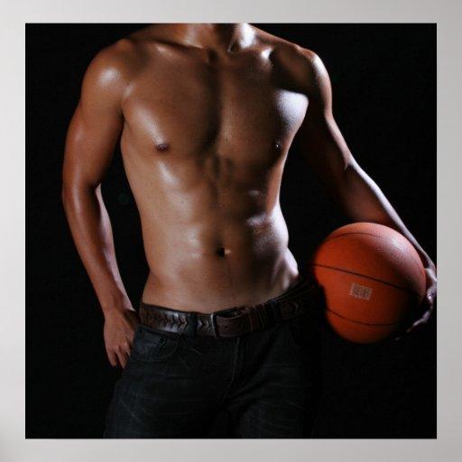 Jugador de básquet W4 Póster
