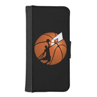 Jugador de básquet w/Hoop de la clavada en bola Billetera Para iPhone 5