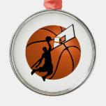 Jugador de básquet w/Hoop de la clavada en bola Adornos