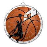 Jugador de básquet w/Hoop de la clavada en bola Tablero De Dardos