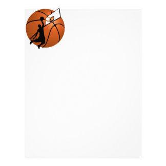 Jugador de básquet w/Hoop de la clavada en bola Membretes Personalizados