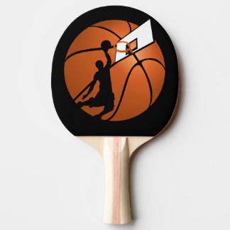 Jugador de básquet w/Hoop de la clavada en bola Pala De Tenis De Mesa