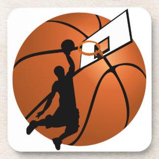 Jugador de básquet w/Hoop de la clavada en bola Posavasos