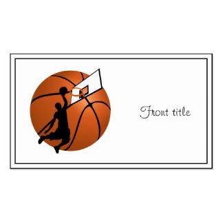 Jugador de básquet w Hoop de la clavada en bola Plantilla De Tarjeta Personal