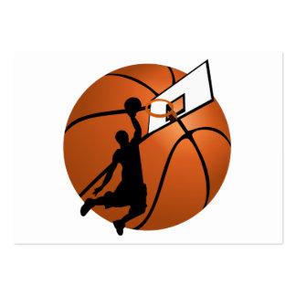 Jugador de básquet w/Hoop de la clavada en bola Tarjeta Personal