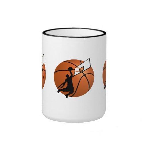 Jugador de básquet w/Hoop de la clavada en bola Taza A Dos Colores