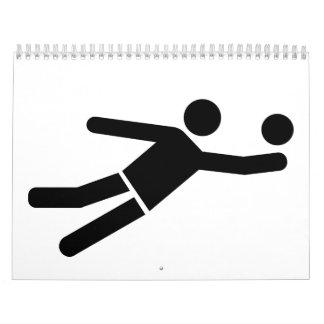 Jugador de Beachvolleyball Calendarios De Pared