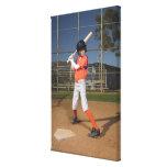 Jugador de béisbol 3 impresiones en lienzo estiradas