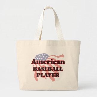 Jugador de béisbol americano bolsa tela grande