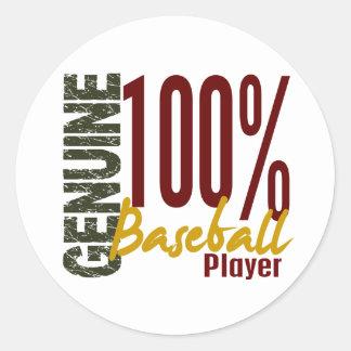 Jugador de béisbol auténtico pegatina