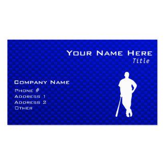 Jugador de béisbol azul tarjetas de visita