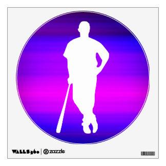 Jugador de béisbol; Azul violeta y magenta