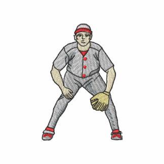 Jugador de béisbol camiseta polo bordada