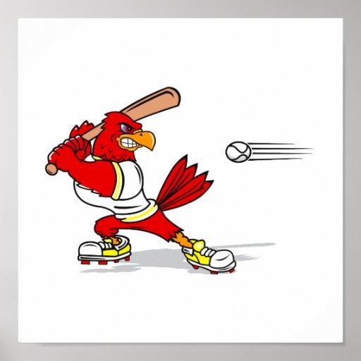 Jugador de béisbol cardinal impresiones
