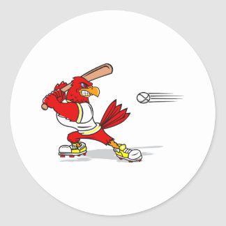 Jugador de béisbol cardinal pegatina redonda
