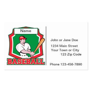 Jugador de béisbol de encargo tarjetas de visita