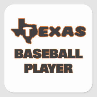 Jugador de béisbol de Tejas Pegatina Cuadrada