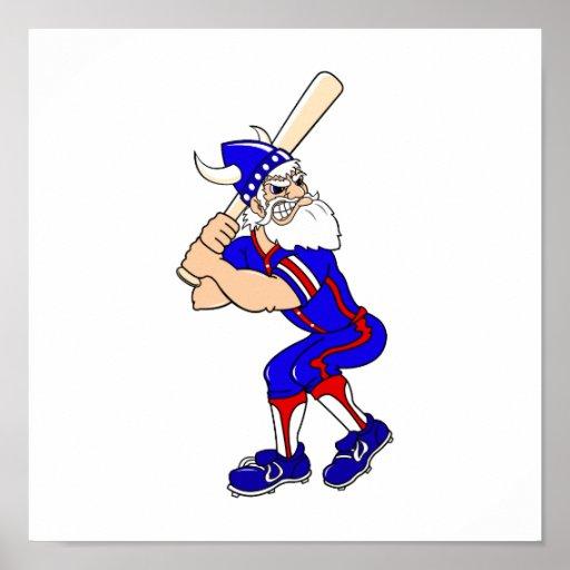 Jugador de béisbol de Viking Poster
