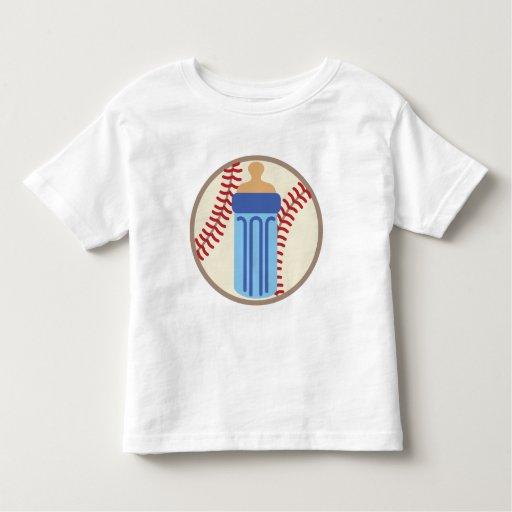 Jugador de béisbol del bebé camiseta