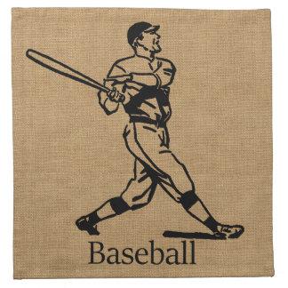 Jugador de béisbol del vintage en mirada de la servilleta