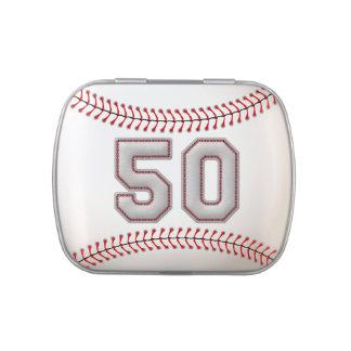 Jugador de béisbol fresco número 50 - mirada de la frascos de caramelos