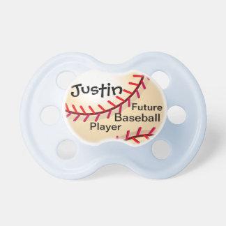 Jugador de béisbol futuro chupetes de bebé