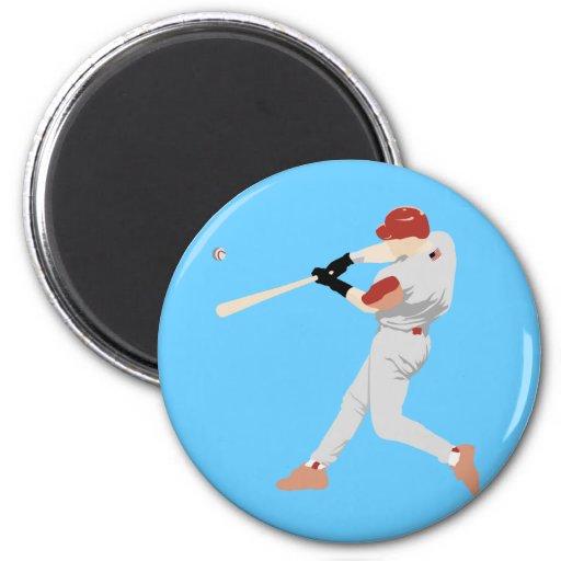 Jugador de béisbol imán de nevera