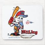 Jugador de béisbol lechoso alfombrillas de raton