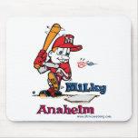 Jugador de béisbol lechoso Anaheim Alfombrillas De Raton