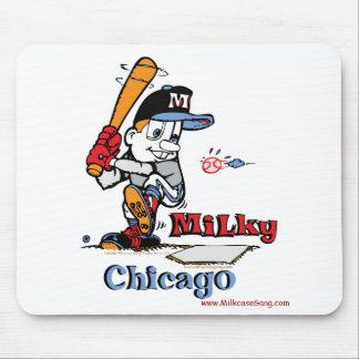 Jugador de béisbol lechoso Chicago Alfombrilla De Ratón