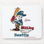 Jugador de béisbol lechoso Seattle Alfombrilla De Raton