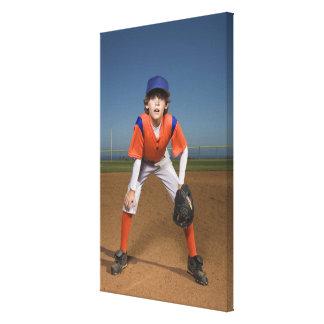 Jugador de béisbol lona estirada galerías