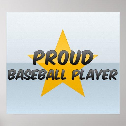 Jugador de béisbol orgulloso póster