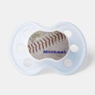 Jugador de béisbol personalizado del futuro del be chupetes para bebés