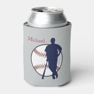 Jugador de béisbol personalizado enfriador de latas