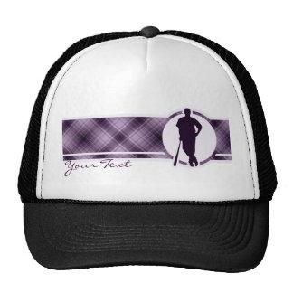 Jugador de béisbol púrpura gorras de camionero