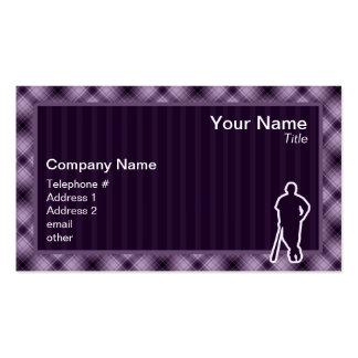 Jugador de béisbol púrpura tarjetas de visita