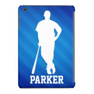 Jugador de béisbol; Rayas azules reales Funda De iPad Mini