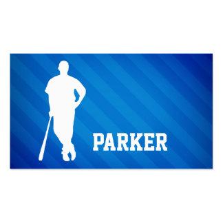Jugador de béisbol; Rayas azules reales Tarjetas De Visita