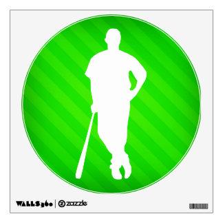 Jugador de béisbol; Rayas verdes de neón